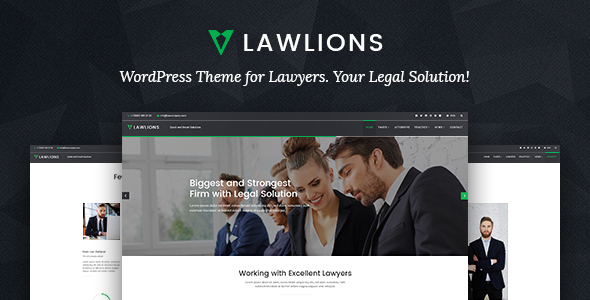 Law Lions – Laywers Attorneys Business WordPress Theme
