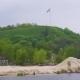 Ukrainian Flag Fluttering Over Devich Mountain In Trypillia Village, Ukraine - VideoHive Item for Sale