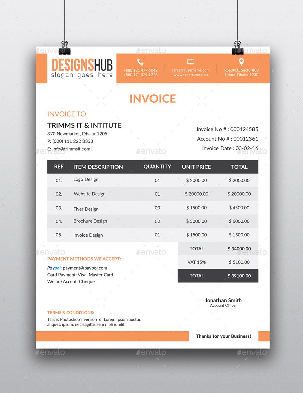 Invoice LetterHead Bundle By ResearchStudio GraphicRiver - Invoice jpg
