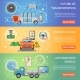 Driverless Car Autonomous Vehicle Banners - GraphicRiver Item for Sale