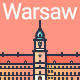 Line Flat Warsaw Banner - GraphicRiver Item for Sale