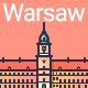 Line Flat Warsaw Banner - GraphicRiver Item for Sale