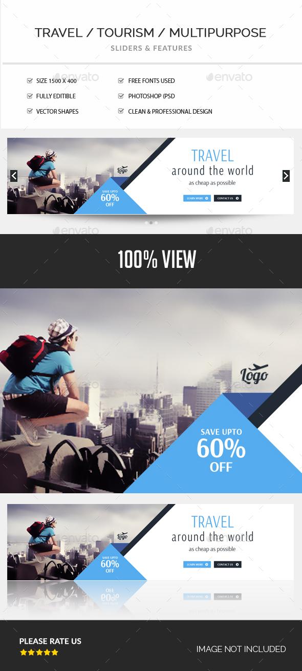 Travel Slider - Sliders & Features Web Elements