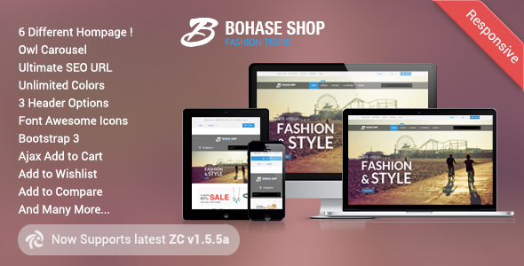 Download Bohase - Responsive and Multipurpose Zen cart Theme nulled version