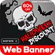 Halloween Web Banner Set - GraphicRiver Item for Sale