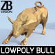 Lowpoly Charging Bull - 3DOcean Item for Sale