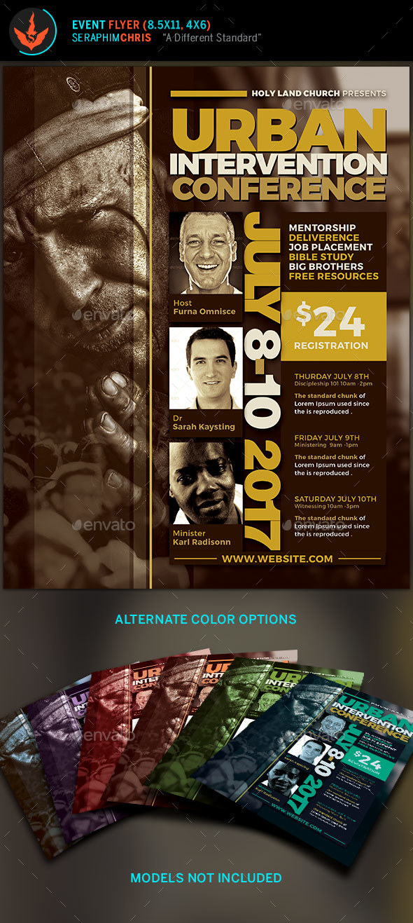 Urban Intervention Conference Flyer Template By Seraphimchris