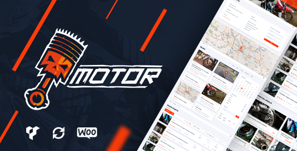 Motor – Vehicles, Parts, Equipments & Accessories WordPress WooCommerce Theme