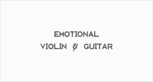 Emotional Violin and Guitar