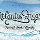 Atlantis Heart Brush Font