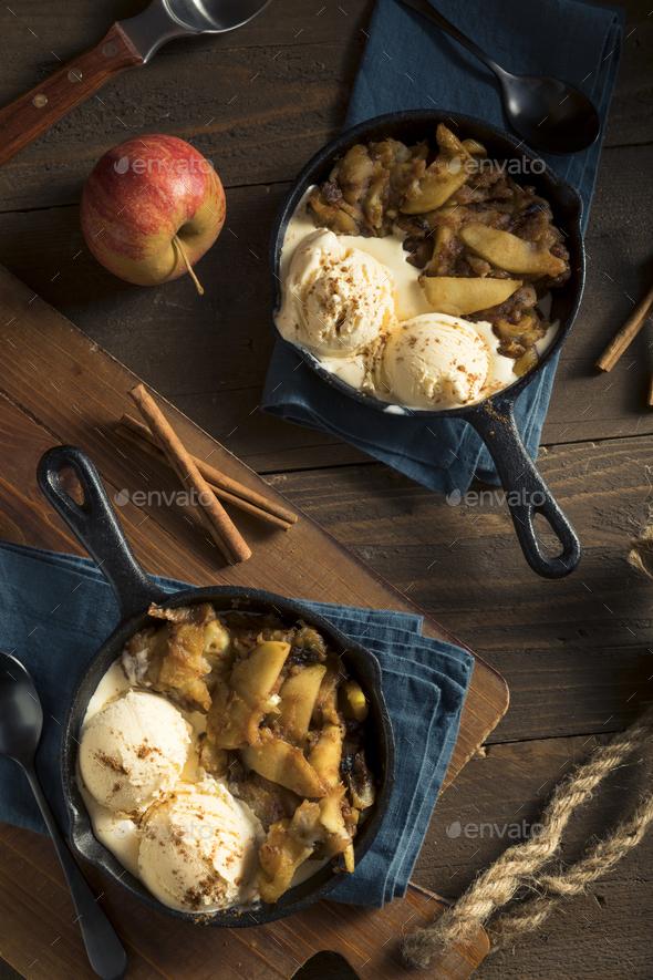 Homemade Sauteed Cinnamon Sugar Apples - Stock Photo - Images