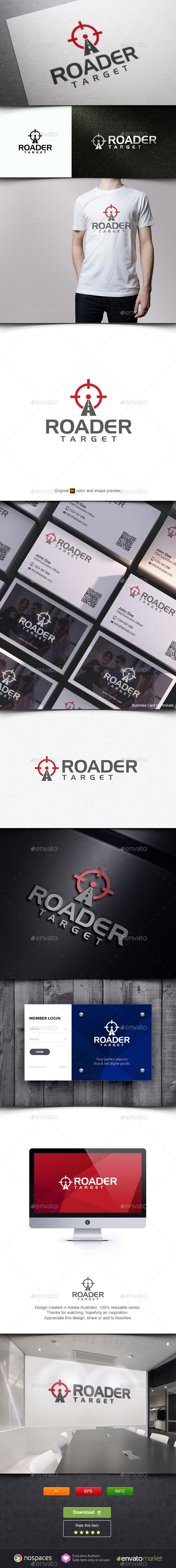 Road Target - Buildings Logo Templates
