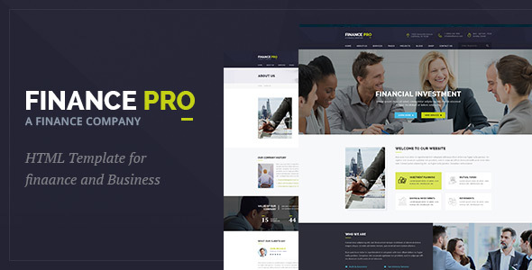 Finance Pro : Finance and Business WordPress Theme