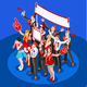 Election Infographic Crowd Party Affiliate Isometric People - GraphicRiver Item for Sale