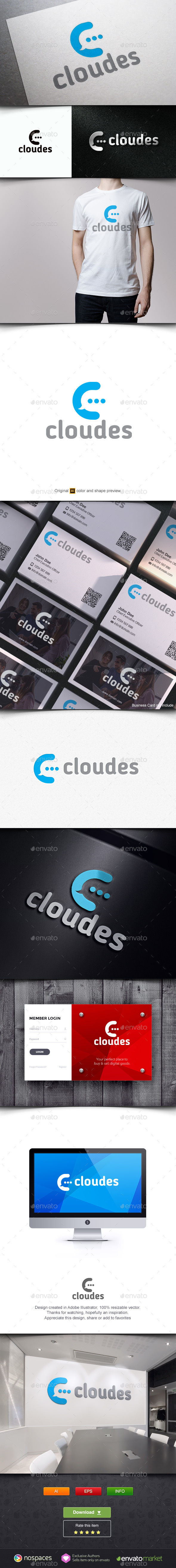 Cloud Talks - Letters Logo Templates