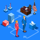 Election Infographic Us Presidential Vector Isometric People - GraphicRiver Item for Sale