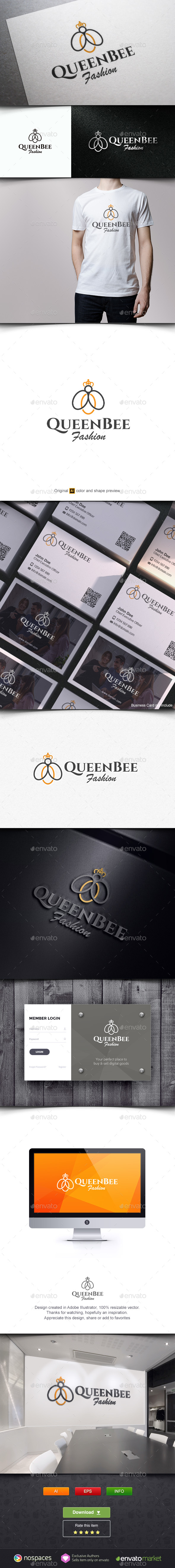 Queen Bee Fashion - Animals Logo Templates