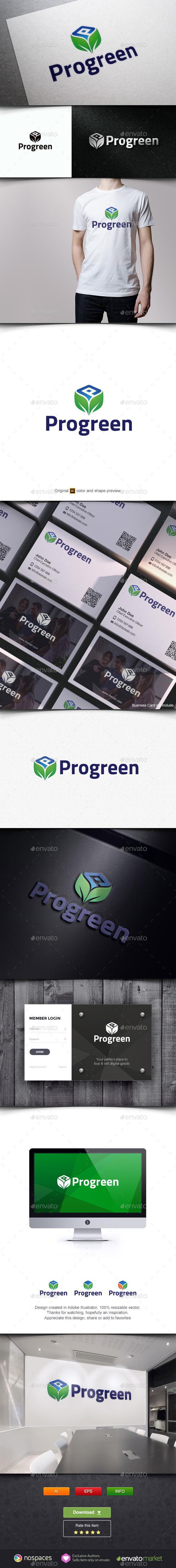 Leaf Box Logo Template - Nature Logo Templates