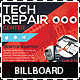 Tech Repair Center Signage Billboard Template - GraphicRiver Item for Sale