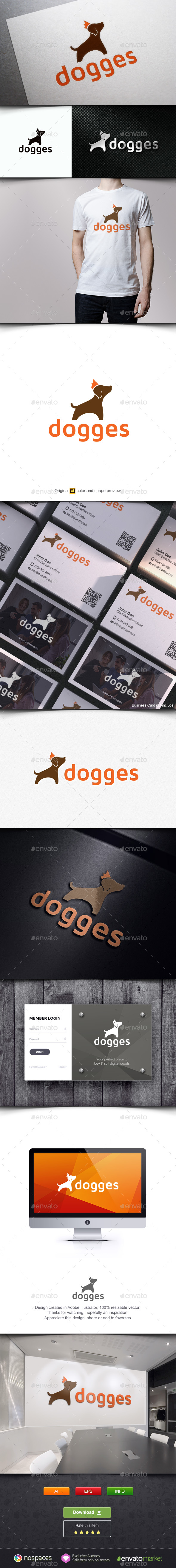 Dog and Crown - Animals Logo Templates
