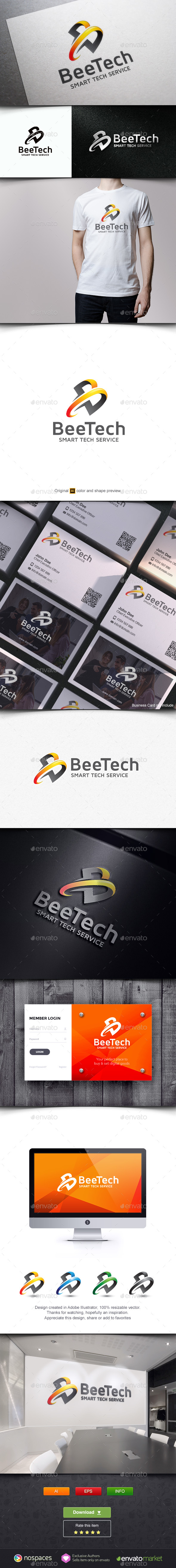 B Letter Technology - Letters Logo Templates