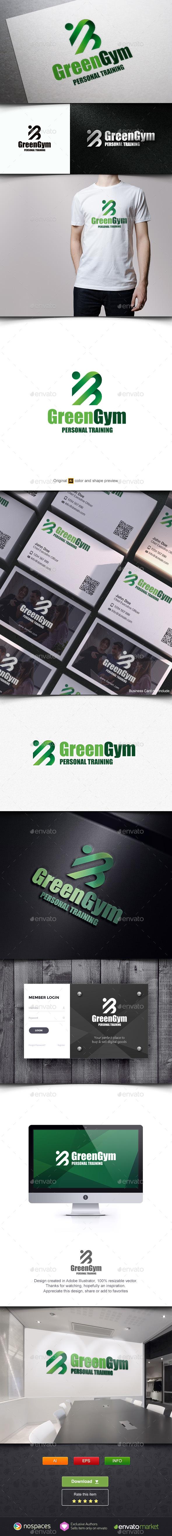 Green Gym Logo - Humans Logo Templates