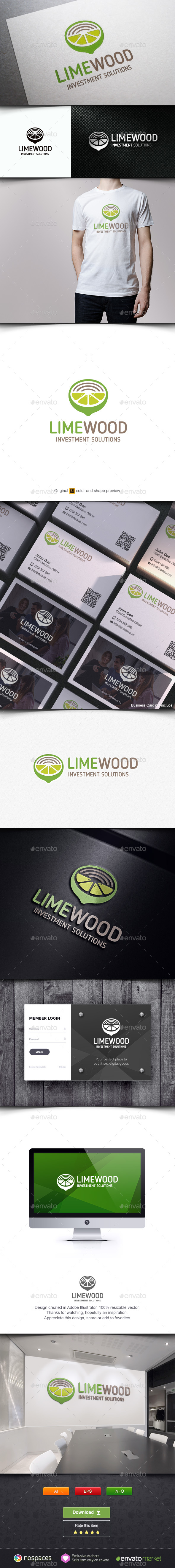 Lime Wood Logo - Nature Logo Templates