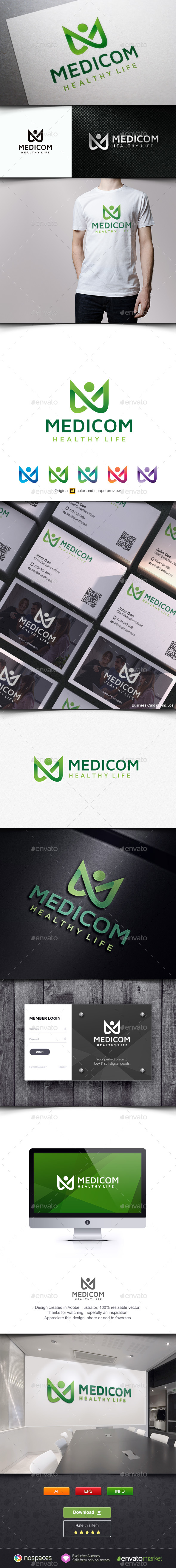 Medical Health Service - Letters Logo Templates