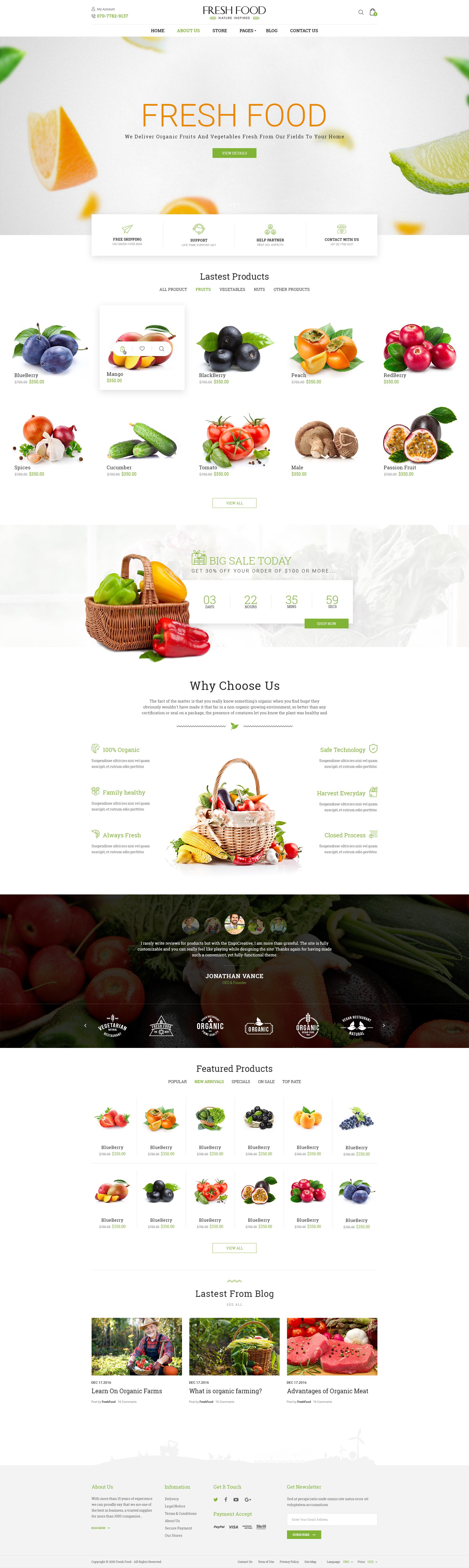 Fresh food organic foodfruitvegetables ecommerce psd template by fresh food organic foodfruitvegetables ecommerce psd template forumfinder Choice Image