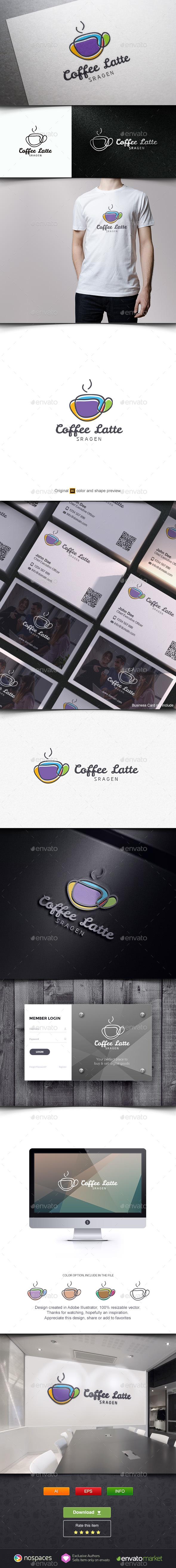 Coffee Latte Logo - Objects Logo Templates