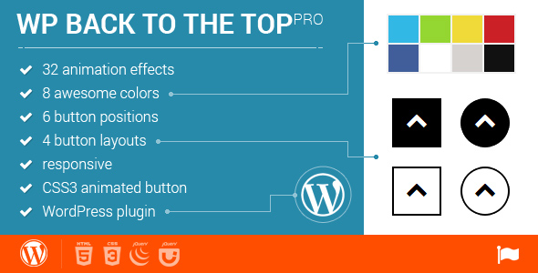 WordPress Back to Top Plugin - 32 animations - CodeCanyon Item for Sale