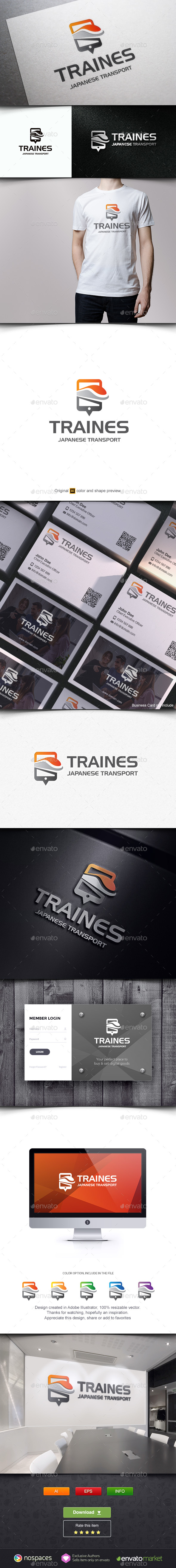Train Mobile Locator Logo - Objects Logo Templates
