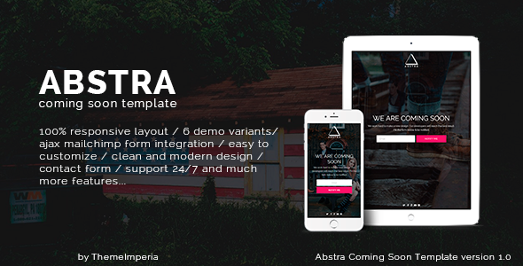 Abstra - Responsive Coming Soon