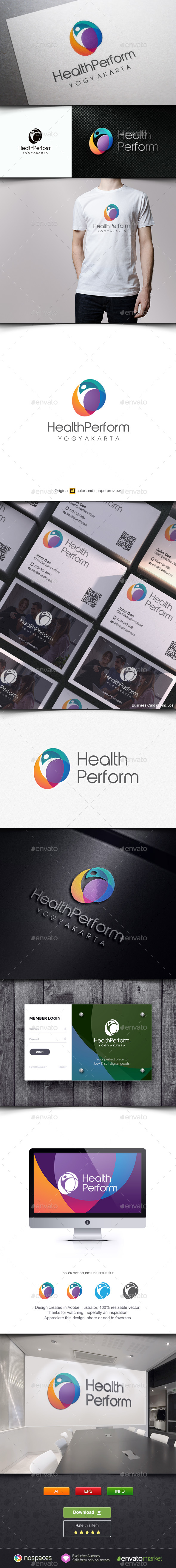 Health Performance Logo - Humans Logo Templates