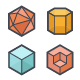 Geometric Shapes Icon - GraphicRiver Item for Sale