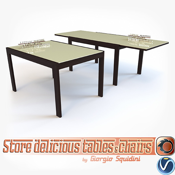 Table NEW SMART G/4704-V OLIVO & GODEASSI - 3DOcean Item for Sale