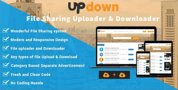 UpDown - File Sharing Uploader / Youtube / Downloader & Blogging - CodeCanyon Item for Sale