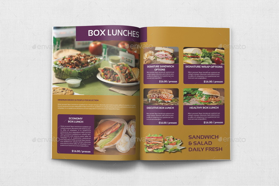 Catering Brochure Template 20 Pages By Owpictures Graphicriver