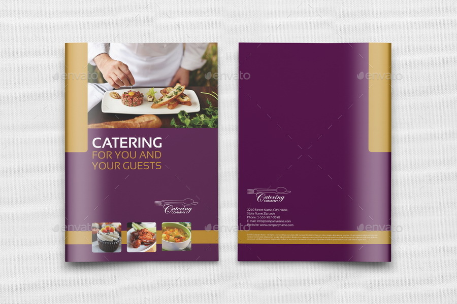 Catering Brochure Template - 20 Pages by OWPictures | GraphicRiver