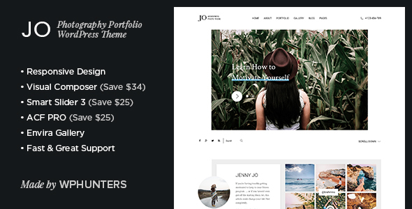 Jo – Photography Portfolio WordPress Theme