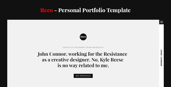 Reco Personal Portfolio Template
