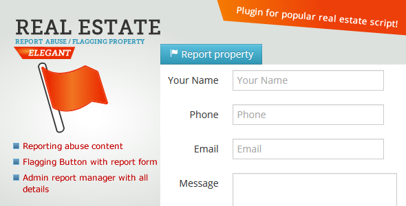 Real Estate - Reporting / Flagging abuse content - CodeCanyon Item for Sale