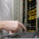 IT Engineer Checks The Server Rack - VideoHive Item for Sale
