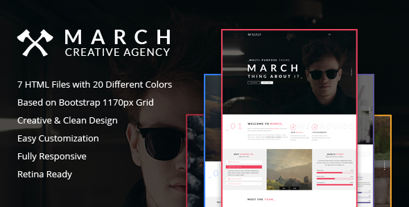 March Agency - HTML5 Creative One Page Template