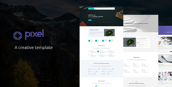 Pixel – Corporate PSD Template