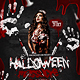 Halloween Massacre Party Flyer PSD Template - GraphicRiver Item for Sale