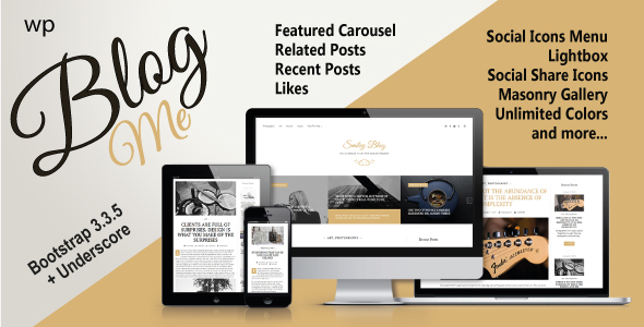 Blogme. Responsive theme for blog or magazine
