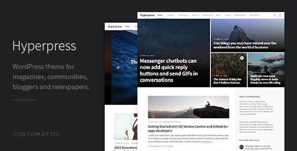 Hyperpress – Magazine / Newspaper WordPress Theme