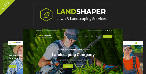 The Landshaper - Gardening, Lawn & Landscaping HTML Template - Business Corporate