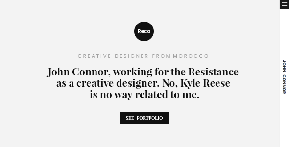 Reco Personal Portfolio Template - Portfolio Creative